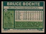1977 Topps #68  Bruce Bochte  Back Thumbnail