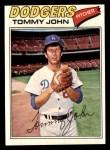 1977 Topps #128  Tommy John  Front Thumbnail