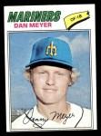 1977 Topps #527  Dan Meyer  Front Thumbnail