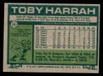 1977 Topps #301  Toby Harrah  Back Thumbnail