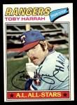 1977 Topps #301  Toby Harrah  Front Thumbnail