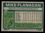 1977 Topps #106  Mike Flanagan  Back Thumbnail
