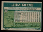 1977 Topps #60  Jim Rice  Back Thumbnail