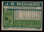 1977 Topps #260  J.R. Richard  Back Thumbnail