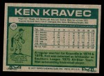 1977 Topps #389  Ken Kravec  Back Thumbnail