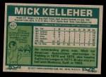 1977 Topps #657  Mick Kelleher  Back Thumbnail