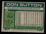 1977 Topps #620  Don Sutton  Back Thumbnail