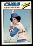 1977 Topps #610  Jose Cardenal  Front Thumbnail