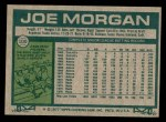 1977 Topps #100  Joe Morgan  Back Thumbnail
