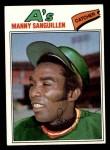 1977 Topps #61  Manny Sanguillen  Front Thumbnail