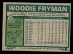 1977 Topps #28  Woodie Fryman  Back Thumbnail