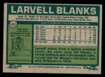 1977 Topps #441  Larvell Blanks  Back Thumbnail