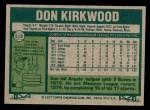 1977 Topps #519  Don Kirkwood  Back Thumbnail