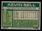1977 Topps #83  Kevin Bell  Back Thumbnail