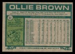 1977 Topps #84  Ollie Brown  Back Thumbnail
