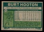 1977 Topps #484  Burt Hooton  Back Thumbnail