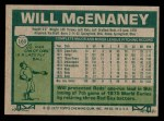 1977 Topps #160  Will McEnaney  Back Thumbnail