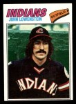 1977 Topps #393  John Lowenstein  Front Thumbnail