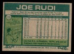 1977 Topps #155  Joe Rudi  Back Thumbnail