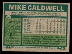 1977 Topps #452  Mike Caldwell  Back Thumbnail