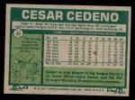1977 Topps #90  Cesar Cedeno  Back Thumbnail