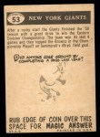 1959 Topps #53   Giants Pennant Back Thumbnail