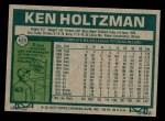 1977 Topps #625  Ken Holtzman  Back Thumbnail