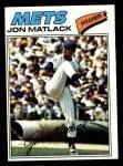 1977 Topps #440  Jon Matlack  Front Thumbnail