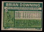 1977 Topps #344  Brian Downing  Back Thumbnail