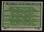 1977 Topps #479   -  Wayne Gross / Sam Mejias / Alvis Woods / Brian Asselstine Rookie Outfielders   Back Thumbnail