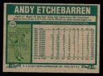1977 Topps #454  Andy Etchebarren  Back Thumbnail