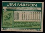 1977 Topps #212  Jim Mason  Back Thumbnail