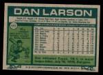 1977 Topps #641  Dan Larson  Back Thumbnail