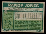 1977 Topps #550  Randy Jones  Back Thumbnail