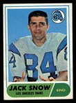 1968 Topps #184  Jack Snow  Front Thumbnail