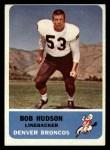1962 Fleer #43  Bob Hudson  Front Thumbnail