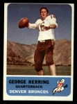 1962 Fleer #44  George Herring  Front Thumbnail