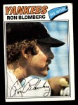 1977 Topps #543  Ron Blomberg  Front Thumbnail