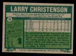 1977 Topps #59  Larry Christenson  Back Thumbnail