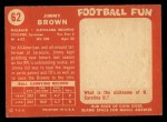 1958 Topps #62  Jim Brown  Back Thumbnail