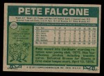 1977 Topps #205  Pete Falcone  Back Thumbnail