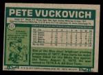 1977 Topps #517  Pete Vuckovich  Back Thumbnail