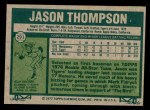 1977 Topps #291  Jason Thompson  Back Thumbnail