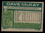 1977 Topps #377  Dave McKay  Back Thumbnail