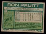 1977 Topps #654  Ron Pruitt  Back Thumbnail