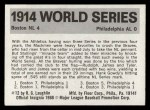 #  12  1914 Braves/A's - 1971 Fleer World Series Back Thumbnail