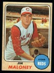 1968 Topps #425  Jim Maloney  Front Thumbnail