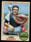 1968 Topps #42  Larry Haney  Front Thumbnail
