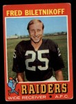 1971 Topps #178  Fred Biletnikoff  Front Thumbnail