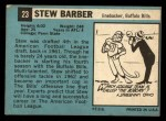 1964 Topps #23  Stew Barber  Back Thumbnail